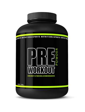 pre-workout bottle